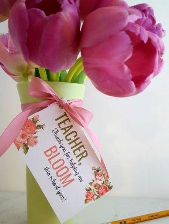 Flowers make a great teacher gift