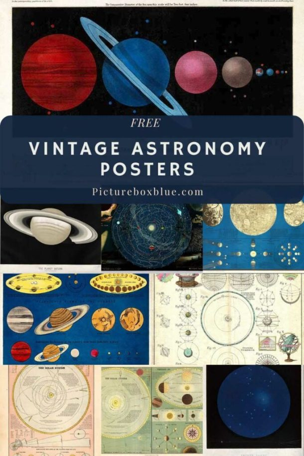 Free planets vintage posters