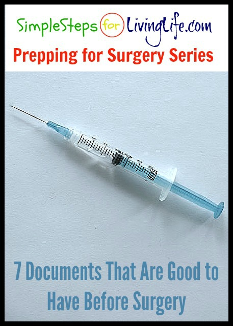 7 documents to gather before surgery