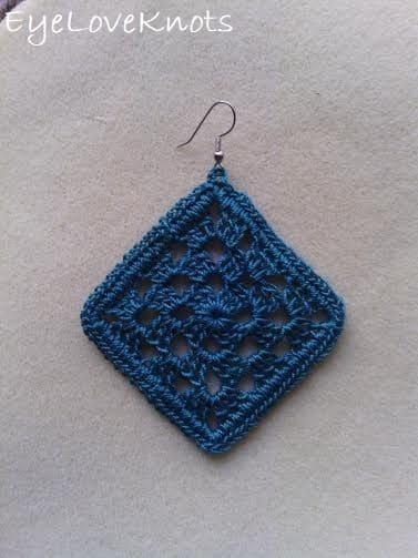 Crocheted Lace Earrings