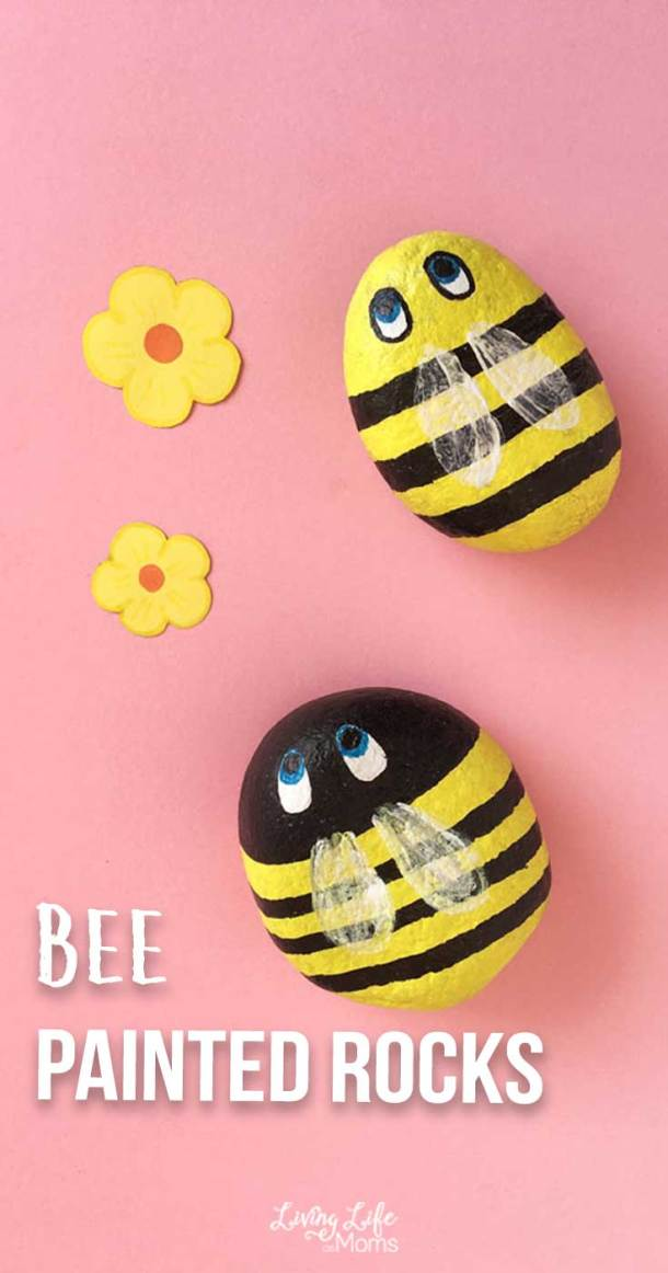 Buzzing bees painted rocks