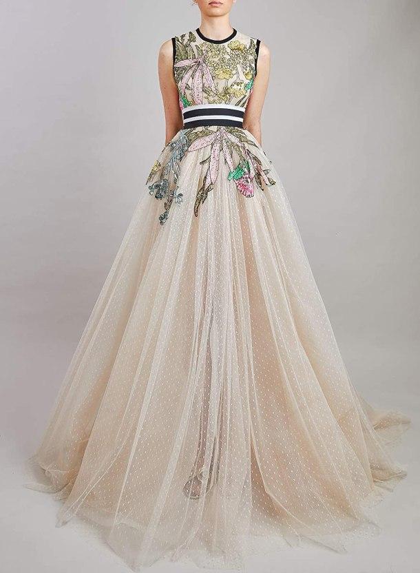 Fantasy Garden print gown