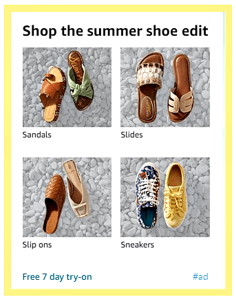 Summer shoes from Amazon