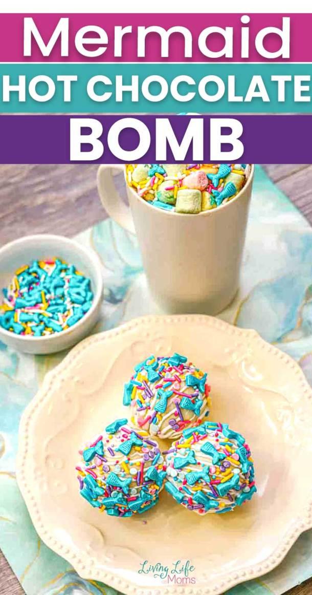 Mermaid hot chocolate bombs