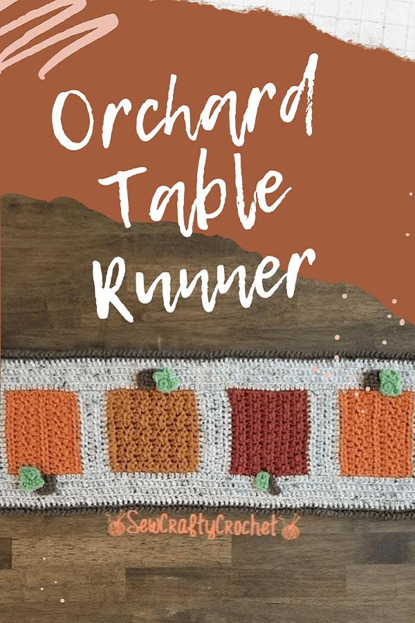crocheted fall table runner