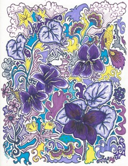 Some Purple Violets and Crazy Colors