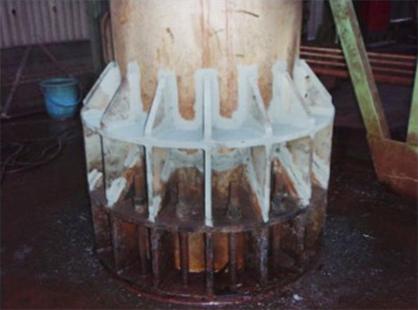 排気塔金属疲労施工後