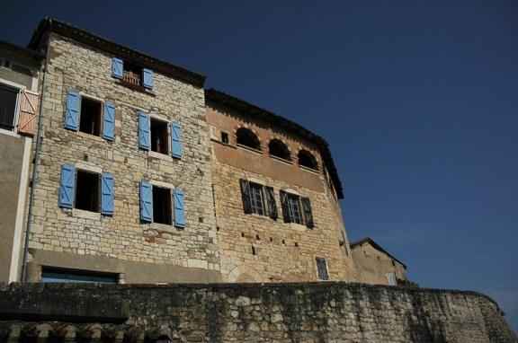 CP-DSC_9069-remparts & maisons Castelnau de Montmiral