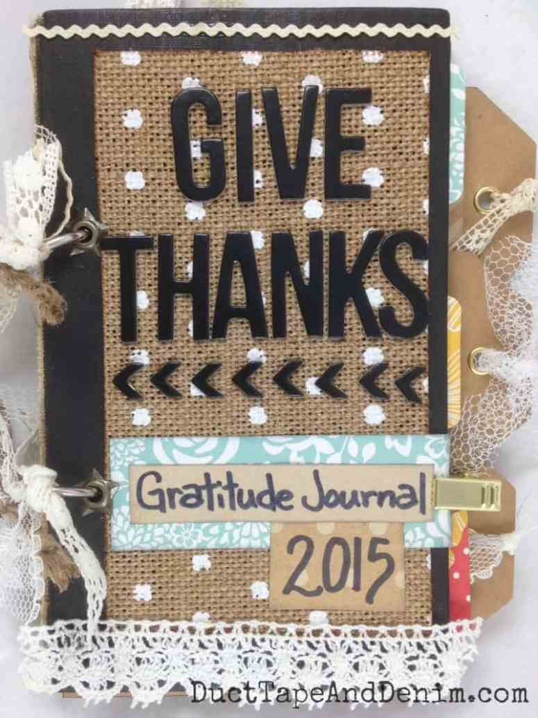 GIVE THANKS Gratitude Journal