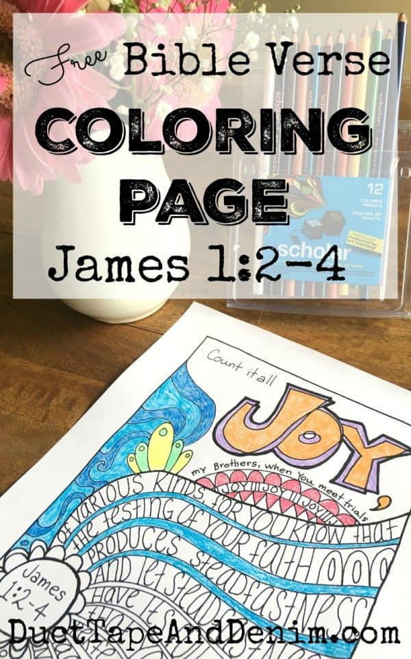 Hand Drawn Bible Verse Coloring Page James 12 4 FREE