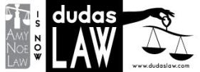 Amy Noe Law is now Dudas Law