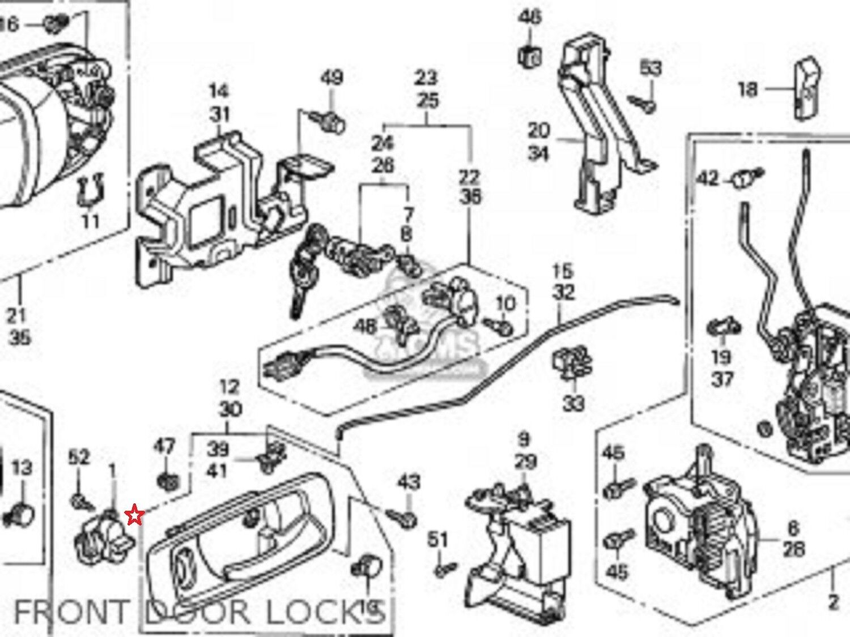 Oem honda accord odyssey gray power door lock switch 35380 s84 a01zb