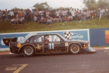 """1985 and Roberto Ravaglia on track with the BMW 320 Group 5 """"Extreme""""."""