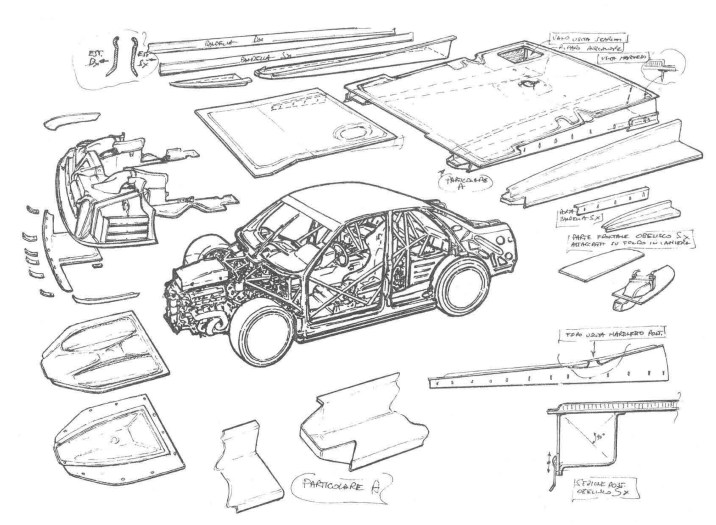 The 1995 Abarth SE062 DTM Underfloor Assembly.