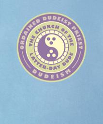 ordained dudeist priest emblem