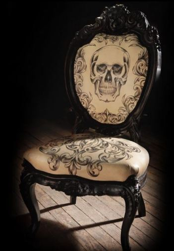 tatoo skull chair for guys room
