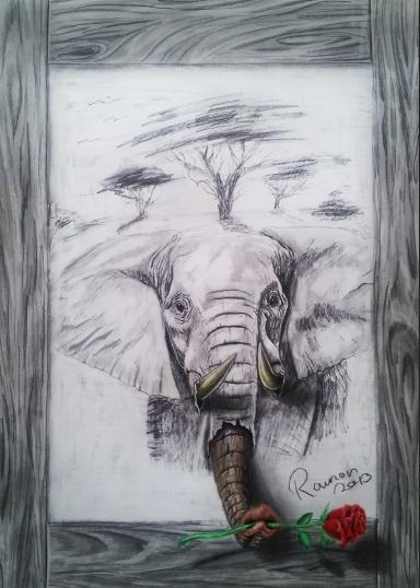 3d elephant art