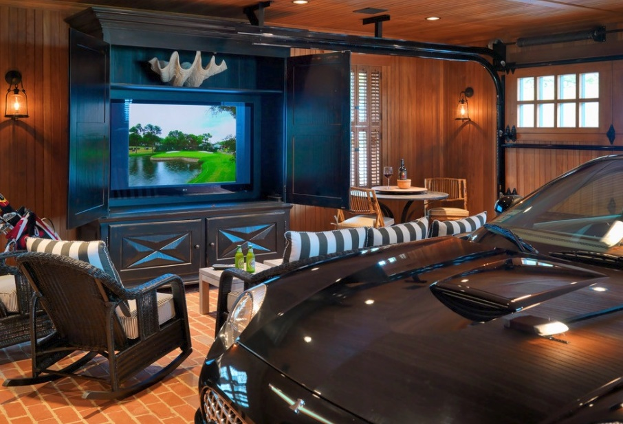 how to transform a garage into a man cave effortlessly