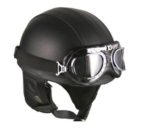 german vintage motorbike helmet