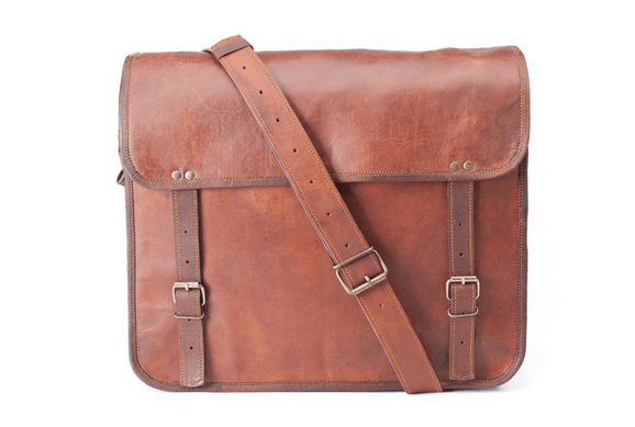 simple leather bag for men
