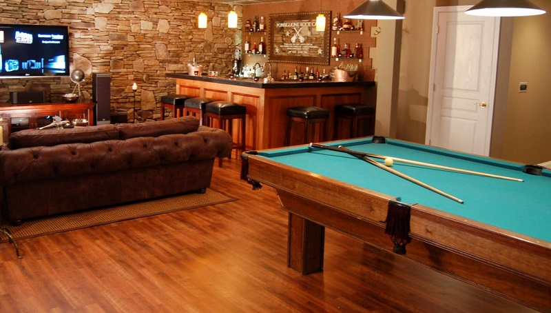 billiard man cave