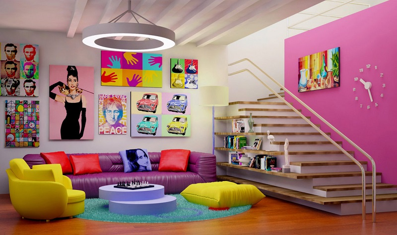 modern man cave pop art