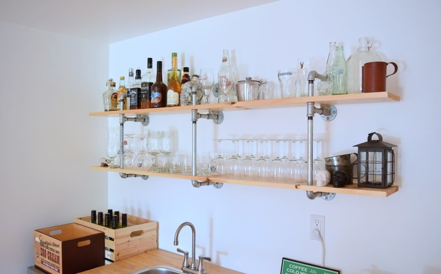 bar shelf ideas