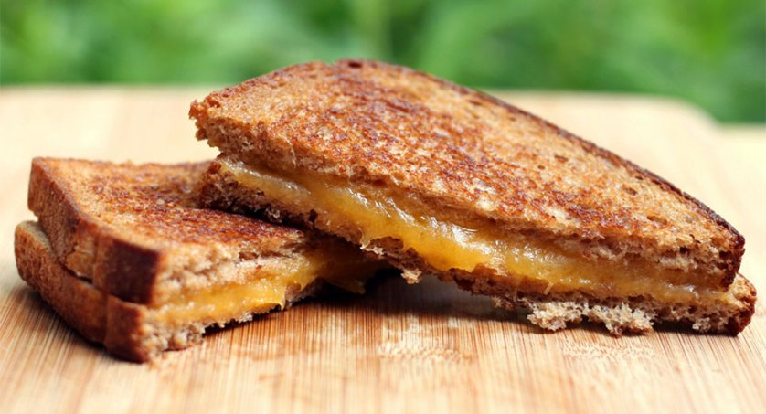 grilled cheese sandwich with brown butter