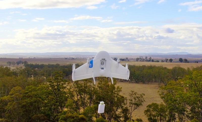 drones delivering aid