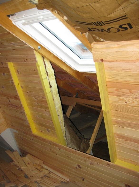 installing a window into attic
