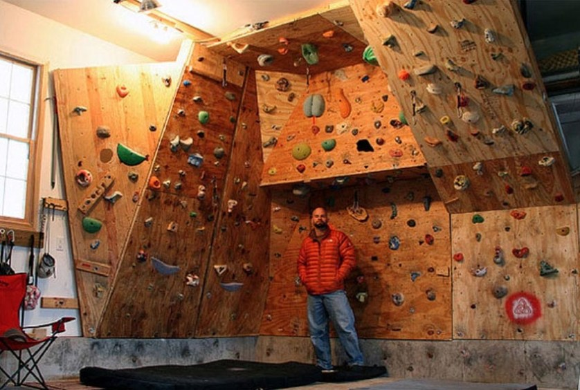 indoor climbing man cave