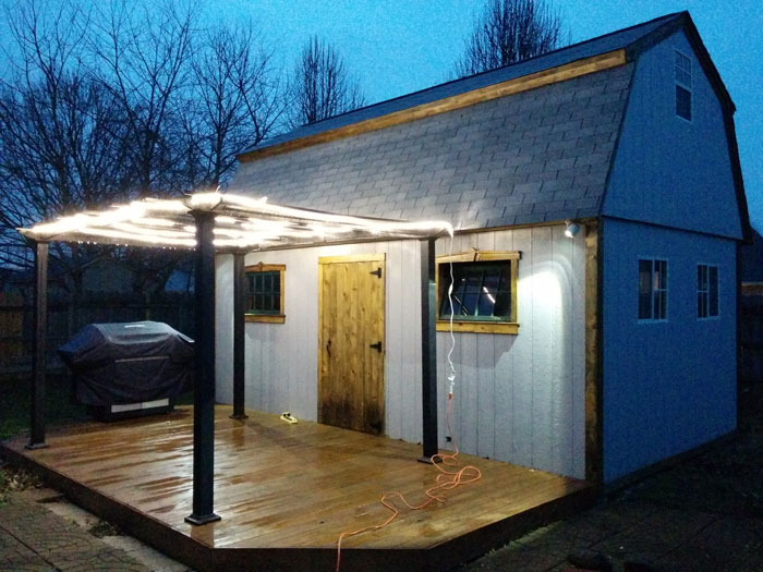 Building A Man Cave Bar : Barn meets bar and becomes the ultimate man cave backyard