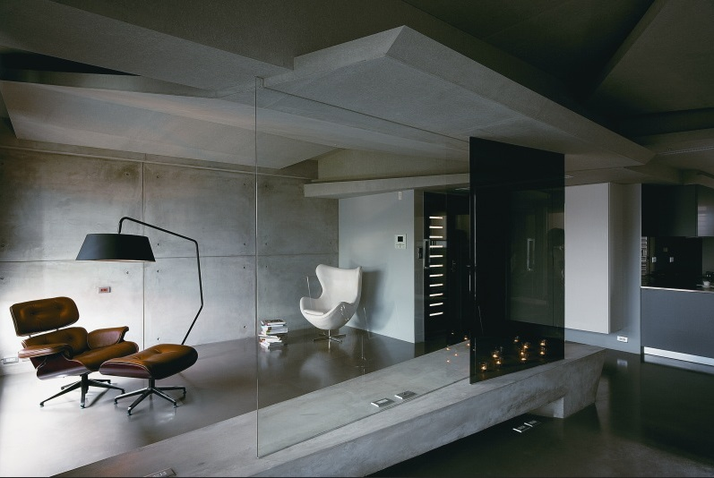 concrete used in interior design