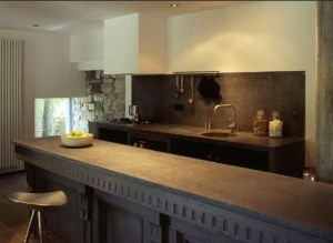concrete used in kitchen design