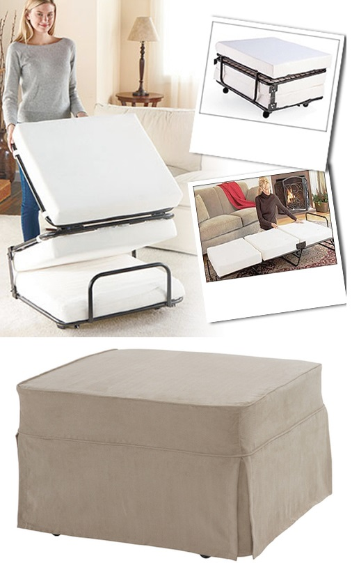 convertable ottoman to bed