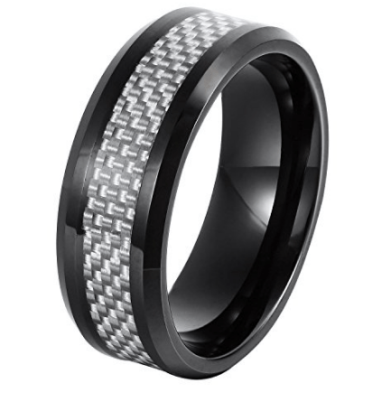 Silver wedding bands for men