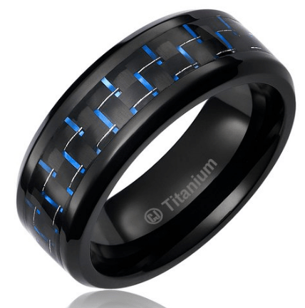 8MM Mens Titanium Ring Wedding Band | Amazon $7.84 $14.84