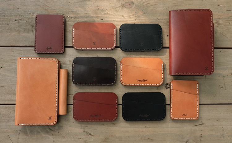 leather card and phone wallets