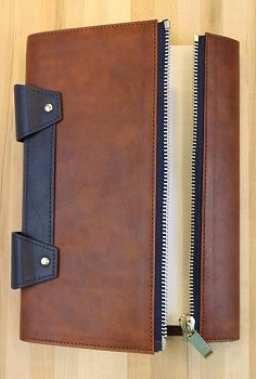 mens leather journal with zipper