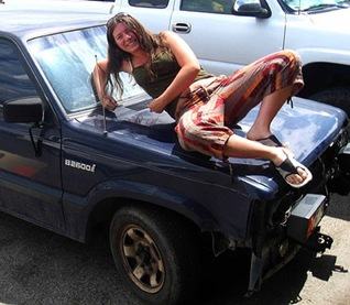 woman and her beater