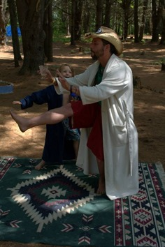 TomyHawk teaches Dudeist Tai Chi to the next generation of Dudeists
