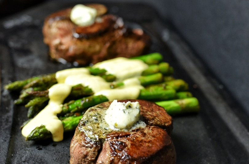 Filet Mignon & Sauteed Asparagus