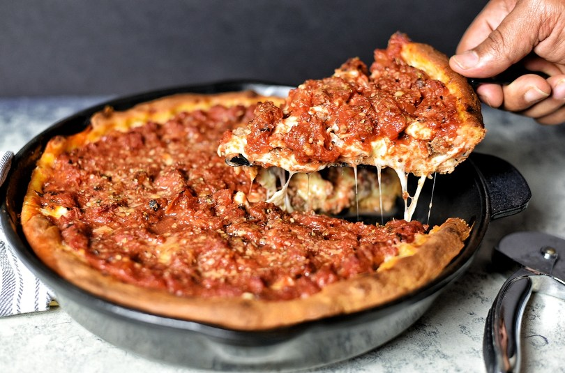 Chicago Style Deep Dish Beef Pizza