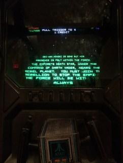 Beginning credits of Star Wars Atari Arcade Game