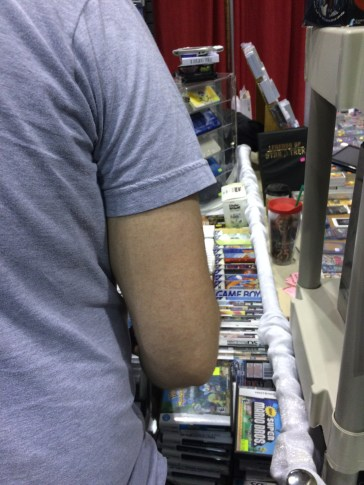 Brian digging through one of the many game booths.
