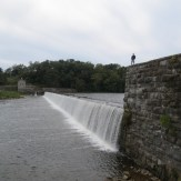 My dad above a dam on the C&O canal