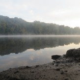 Foggy morning over the Potomac River along the C&O Canal