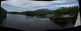 Abol Bridge in Maine Panorama