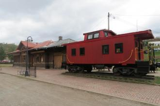 B&O Railroad Caboose in Clarkburg, West Virginia