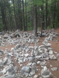 Cairn city in White Rocks National Recreation Area, Vermont